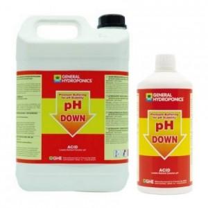 pH Down GHE жидкий понизитель pH со стабилизатором купить в Украине